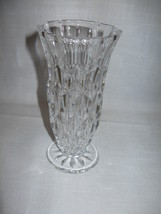 Crystal Clear Vase Candle Stick Holder Inward c... - $9.99