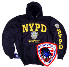 NYPD Shirt Hoodie Sweatshirt Badge Blue T-Shirt Patch Hat Jacket Cap Uni... - $34.99