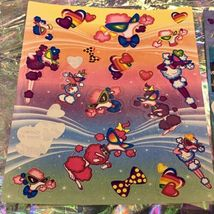 Incredible Incomplete Lisa Frank Sticker Sheets LOT OF 5 Rainbow Tiger Kittens + image 4