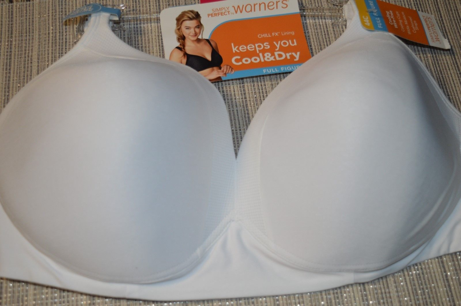 d737174658ad3 S l1600. S l1600. Previous. Simply Perfect by Warner s Women s Full Figure  Cooling Wire-Free Bra White 44C