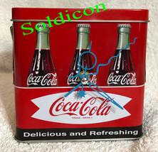 Coke Coca Cola Collection Aluminum Tin Tank Cans Music Box + Quartz desk Clock image 3