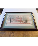 "P Buckley Moss Print "" NORTHERN HERITAGE"" MR. BELVEDERE  114/1200 (7) - $157.41"