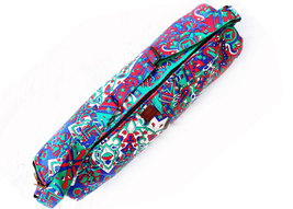 Cross Shoulder Body Bag With Zipper Multi Color Printed Mandala Gym Fitn... - $26.99