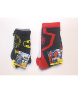 Batman Spider-Man Toddler Boys Socks Sizes 6-8.... - $7.99