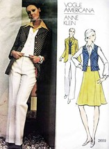 Vintage Misses Jacket, Skirt, Vest & Pants Vogue ANNE KLEIN Pattern 2689... - $12.00