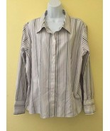 NWT GOLD LABEL Investments Plus Size 22W Striped Long Sleeve Non-Iron Sh... - $28.01