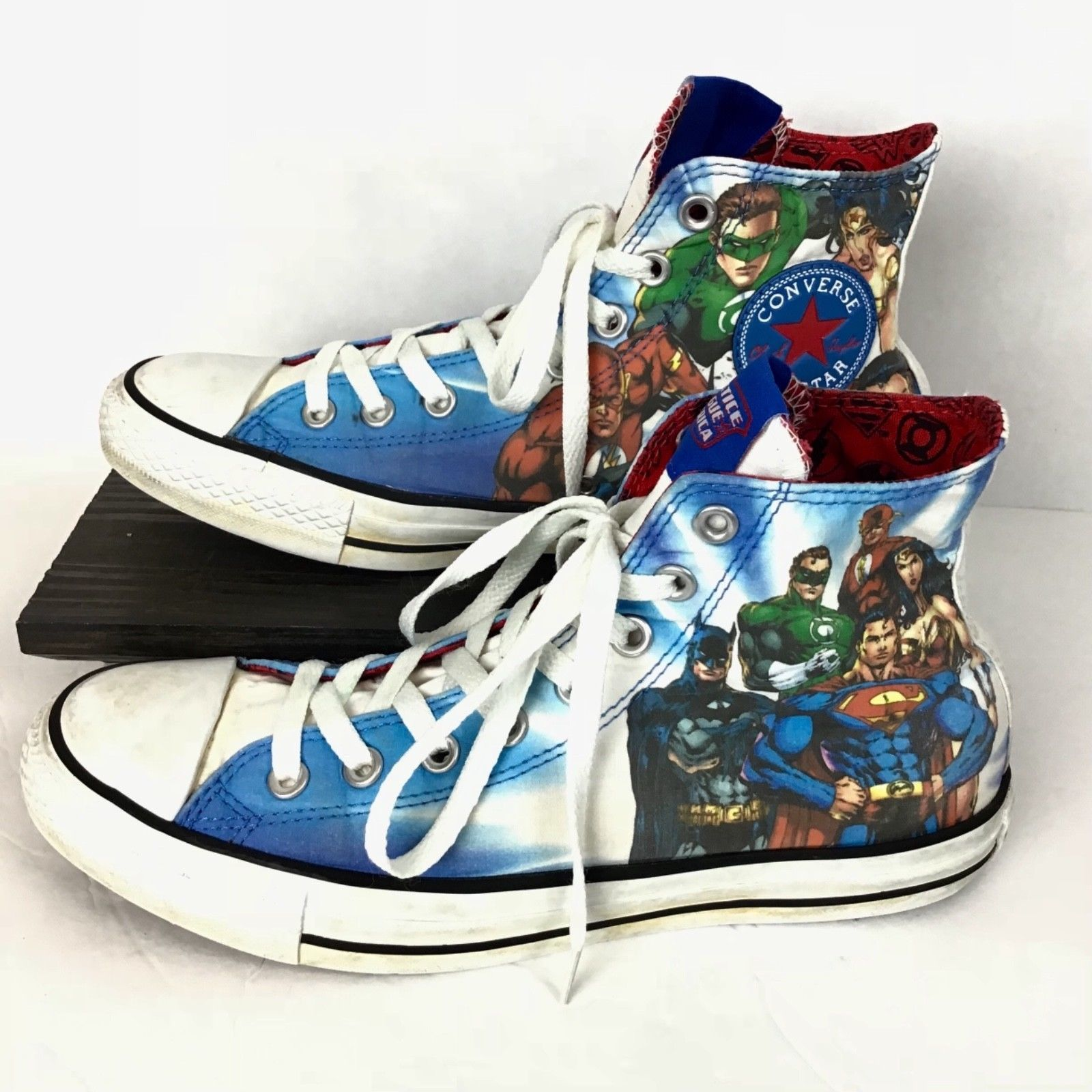 Justice League Converse Mens 8 Womens 10 Chuck Taylor Superman Batman Flash  image 3