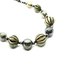 Necklace Antica Murrina Venezia with Murano Glass Gray Military Green COA3A32 image 7