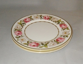 Royal Worcester Royal Garden Bone China Dinner Plates Pink and White Ros... - $80.00
