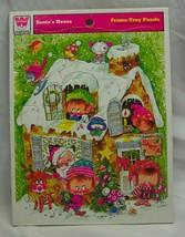 Vintage 1974 SANTA'S HOUSE Christmas Elf  Whitman FRAME TRAY PUZZLE  - $14.85