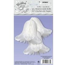 "Wedding Engagement Bridal Shower 3 Honeycomb Bells 9"" Party - $4.99"