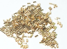 20pcs - 14K GOLD FILLED 1x2mm TUBE SPACER BEADS .028 HOLE image 1