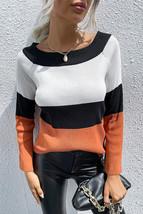 Color Block Trumpet Sleeve Sweater - $30.00
