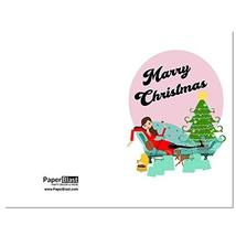 Lady Merry Christmas Card - with Custom Handwritten Message - mailed to ... - $4.46