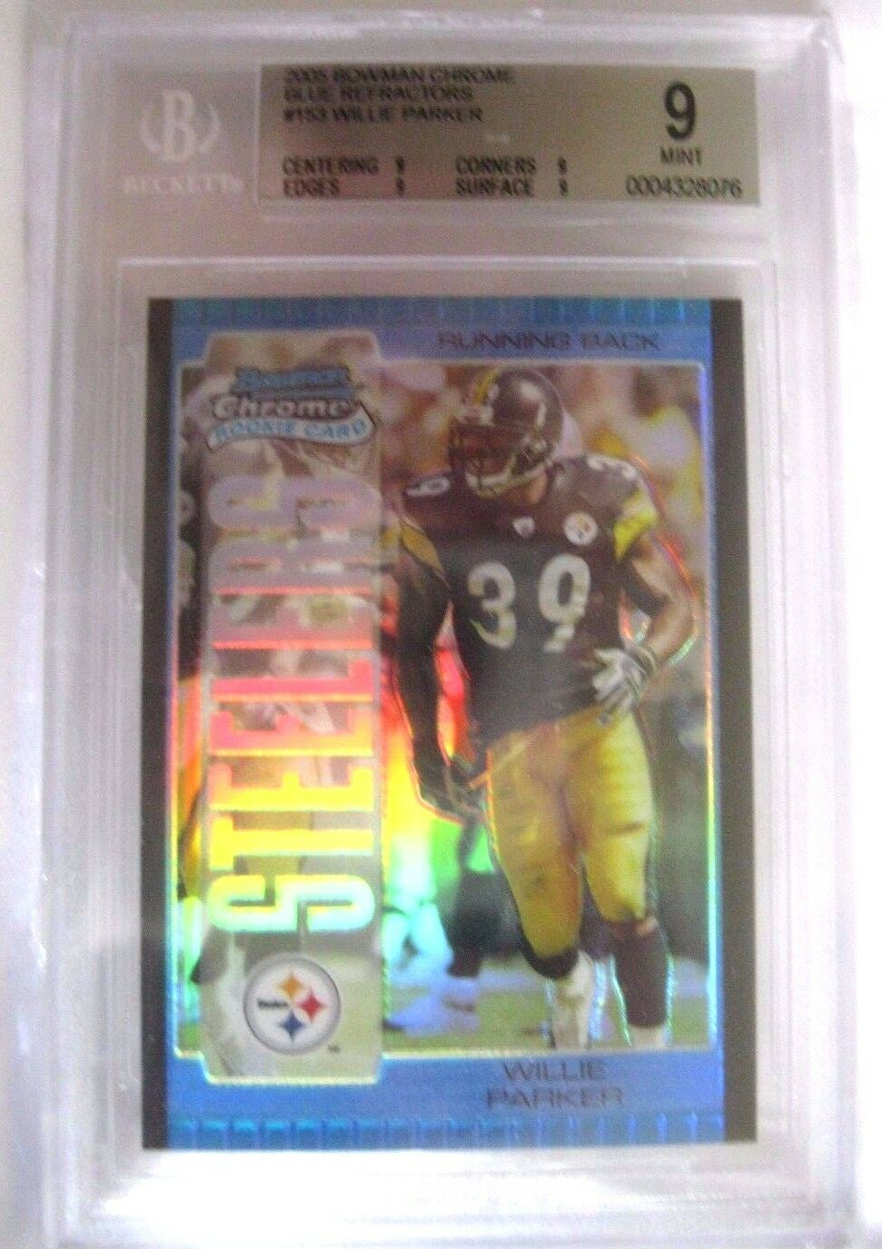 Lee Evans RC 2004 Topps Drafts Picks & Prospects Chrome GEM MINT Graded BGS 9.5 image 9