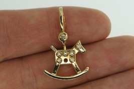 Cartier (c) 18K Yellow Gold Rocking Horse Toy Charm - $785.00
