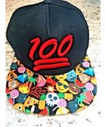 KEEP IT 100 Emoji Era SnapBack Baseball Hat Cap Black Red Bold Tech ONE ... - $18.38