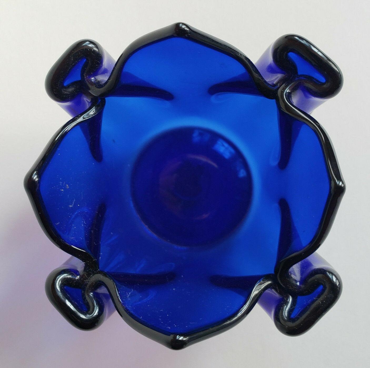 Sapphire Cobalt Indigo Blue Tealight Candle Holder Partylite P0321 Patriotic