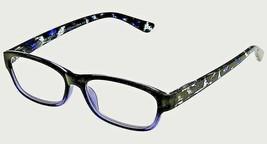 +1.25 Foster Grant Black & Marbleized Blue Reading Glasses Spring Hinges w Case - $6.80