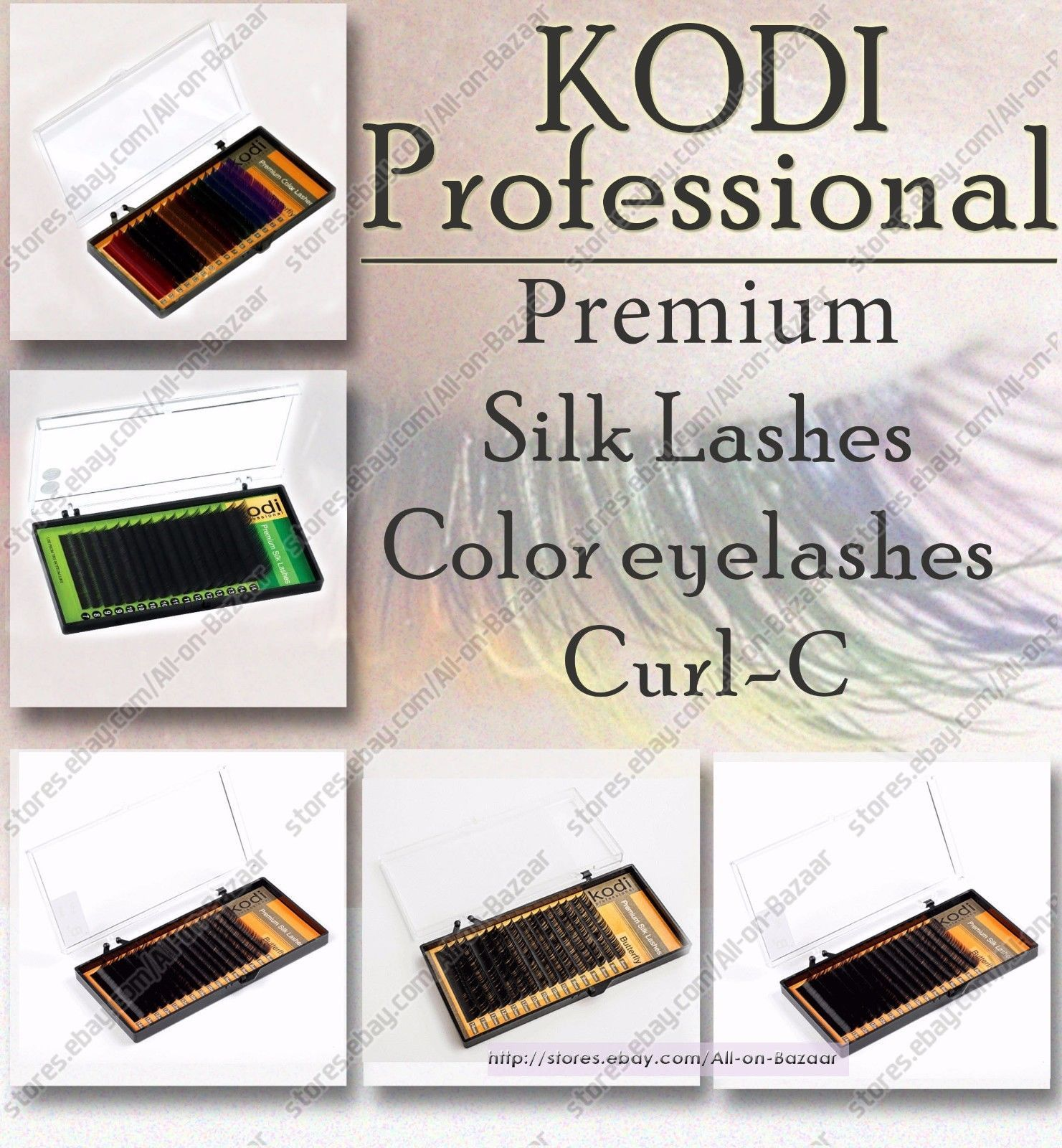 Primary image for NEW! Kodi - Premium Silk Lashes Eyelash Color Curl С Extension EyeLashes Makeup