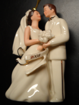 Lenox Christmas Ornament 2008 Bride and Groom Ornament Tasseled Sleeved Boxed - $12.99