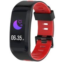 NO.1 F4 Colorful Sports Smart Bracelet(FIRE ENGINE RED) - $33.13