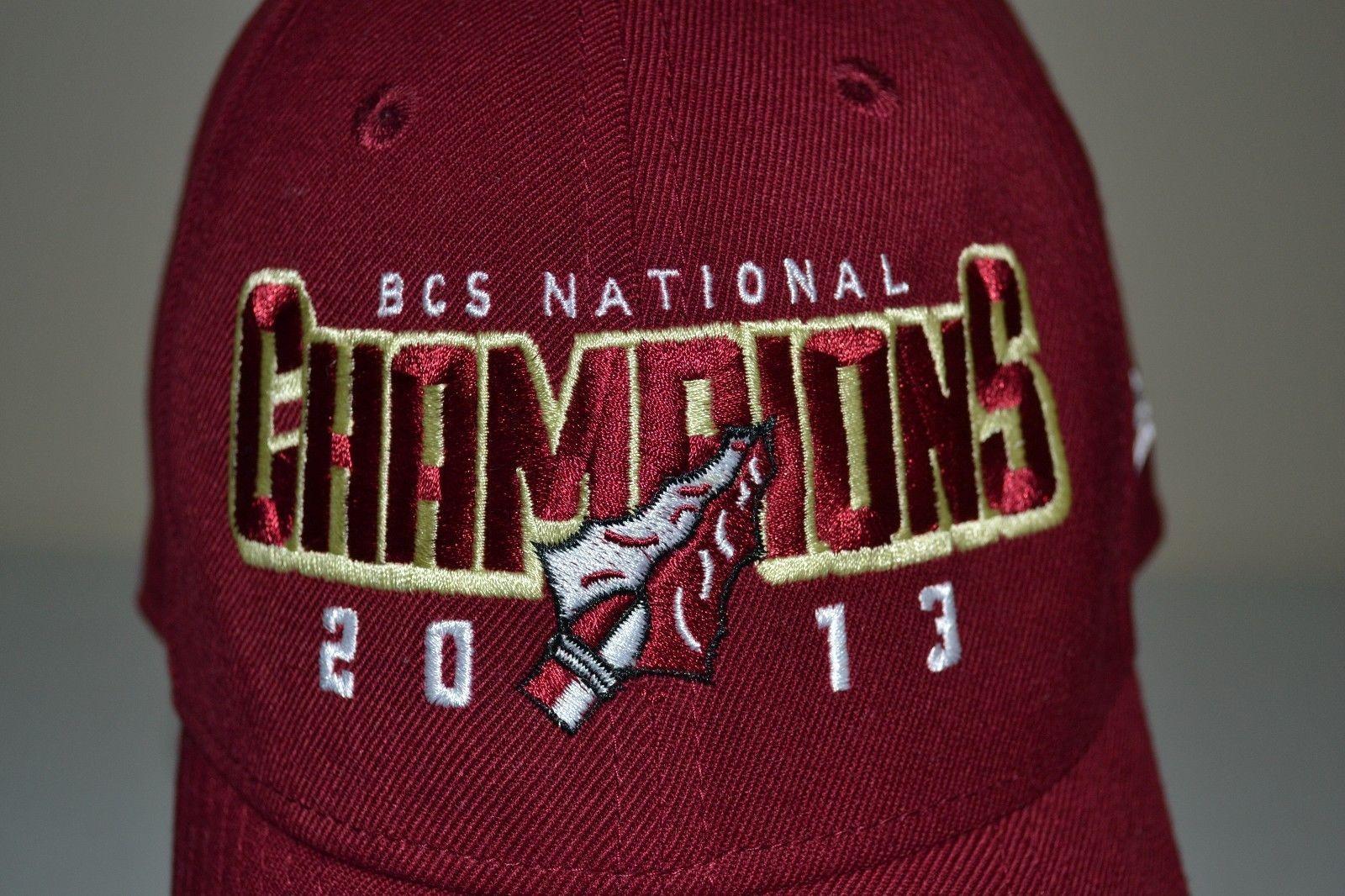 ec1760a6 FLORIDA STATE SEMINOLES BCS NTL CHAMPIONS 2013 FITTED HAT CAP L/XL USED