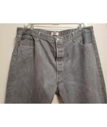 Levi 501 xx Button Fly Gray Men's Jeans Straight Leg 46 x 32 ACT 42 x 29... - £17.44 GBP