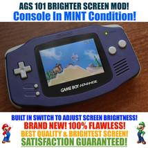 Nintendo Game Boy Advance GBA Indigo System AGS 101 Brighter Backlit Mod... - $118.70
