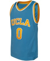 Russell Westbrook #0 College Custom Basketball Jersey Sewn Light Blue Any Size image 1