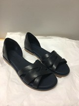 New Timberland Caswell Closed Blue Leather Women Sandals Size 7 - $49.49