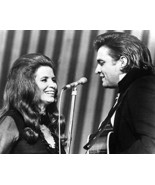 Johnny Cash And June Carter Classic Signing Together 1969 16x20 Canvas G... - $59.99