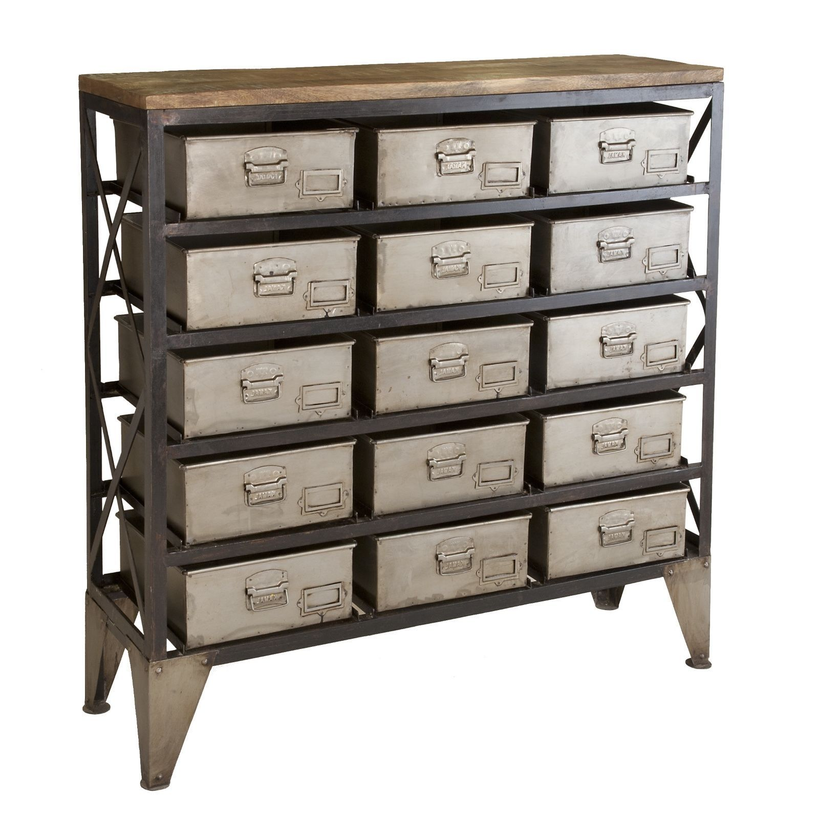S L1600. S L1600. French Farmhouse Urban Industrial Hardware Zinc Style Apothecary  Cabinet Storage