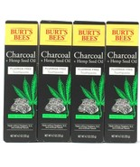 4 Ct Burt's Bees 4.7 Oz Charcoal & Hemp Seed Oil Mint Fluoride Free Toot... - $32.99