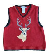 Janie & Jack Baby Boys Rain Deer Vest, Red, Size 18-24months - $24.74