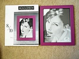 "Malden Solid Wood 8""x10"" Burgandy Picture Frame #233-80 - $12.86"