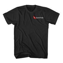 Qantas Airlines Logo Black T-Shirt size S-2XL - $17.95+