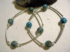 Blue Crazy Lace Agate Agate Metaphysical Blessings Bracelet- Blue and St... - $20.00