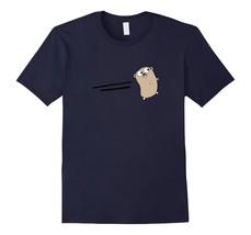 Go Programming Language Tan Brown Logo Gopher T-Shirt - $17.99+