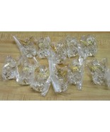 Lot of 11 Crystal Clear Acrylic Angel Christmas Ornaments with Harp & Go... - $24.74