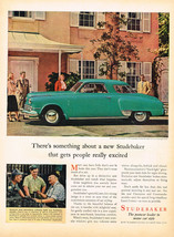Vintage 1947 Magazine Ad Studebaker Something New That Gets People Excited - $5.93