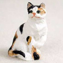 Shorthaired Calico Tabby Cat TINY ONES Figurine Statue Pet Resin - $8.99