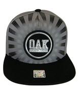 Oakland Men's Striped Cotton Patch Style Adjustable Snapback Baseball Ca... - $13.95