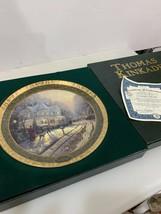 Thomas Kinkade's Cherished Christmas Memories A HOLIDAY GATHERING Plate #1 1999 - $44.10