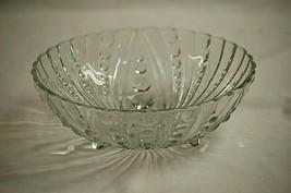 "Burple Clear by Anchor Hocking Depression 8-1/2"" Dessert Bowl 3 Toed Dot... - $39.59"