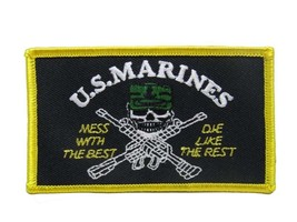 U.S. Military Marines USMC Mess Best Flag Wholesale lot of 3 Iron On Patch - $22.00