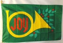 CHRISTMAS JOY 3X5' FLAG NEW 3 X 5 FEET BIG HOLLY - $9.85
