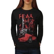 Fear Mustang Art Car Tee Street Light Women Long Sleeve T-shirt - $14.99