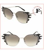 PRADA Absolute Ornate Flame 59V Silver Black Metal Oversized Sunglasses ... - $292.05