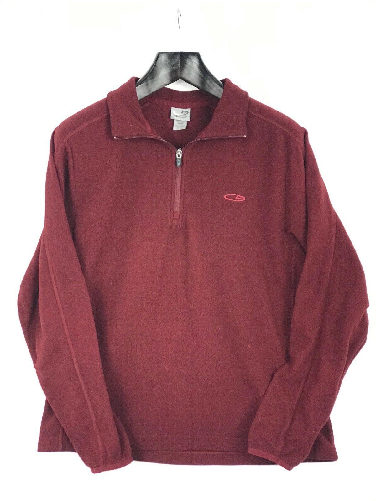 Champion Men Pullover Sweatshirt Fuzzy 3/4 Zip Long Sleeve Athletic Size S